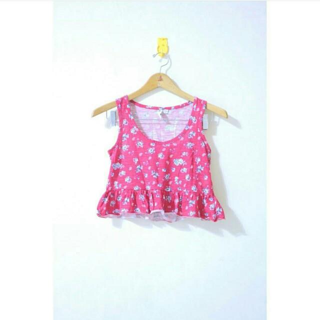 Cotton On Pink Flower Crop