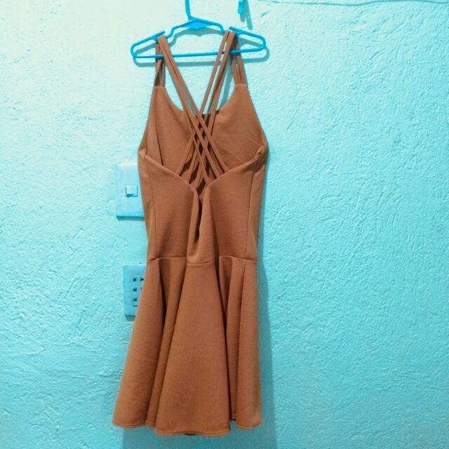 Crisscross Back Dress
