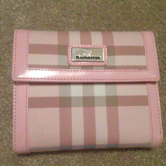 Cute pink Burberry Wallet