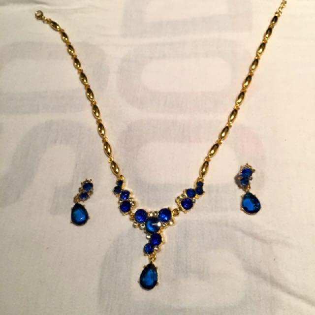 Dark Blue Crystal Set