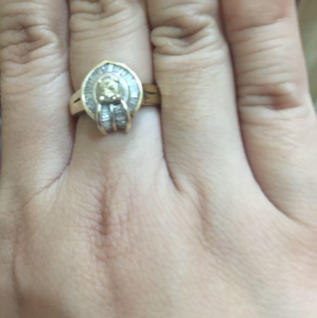 diamond ring 18 k