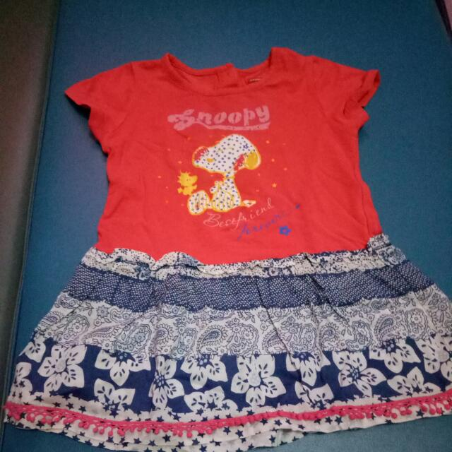 Dress Snoopy Baby Size 3