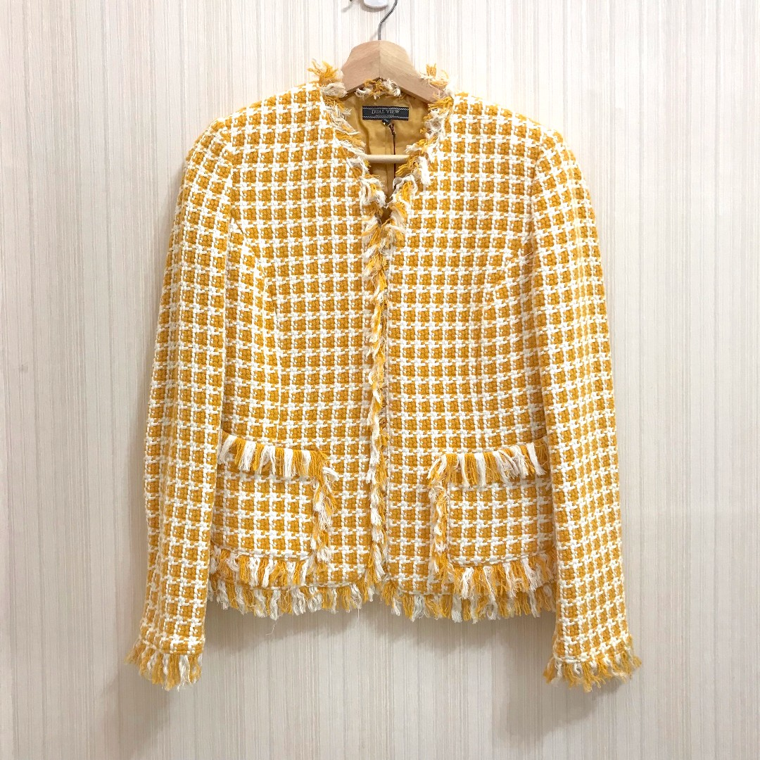 日本DUAL VIEW 全新小香風 編織外套