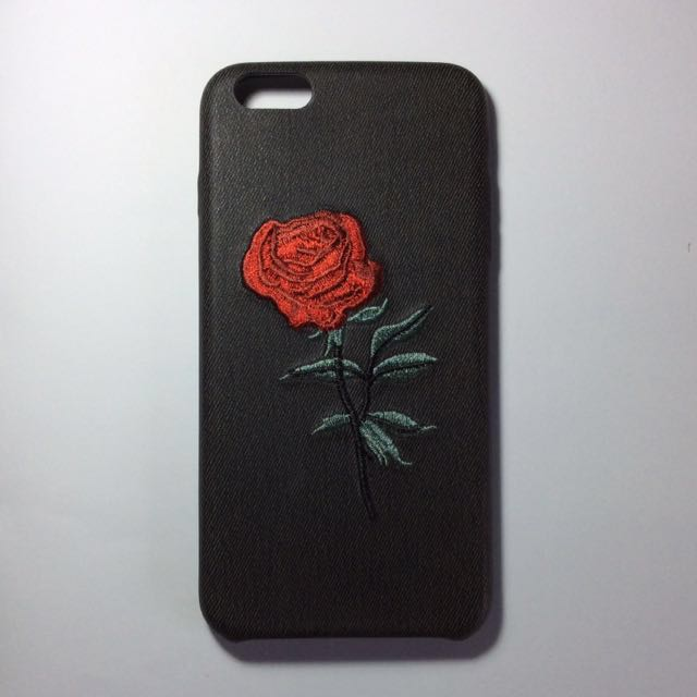 Embroidered Rose Case for iPhone 6 Plus