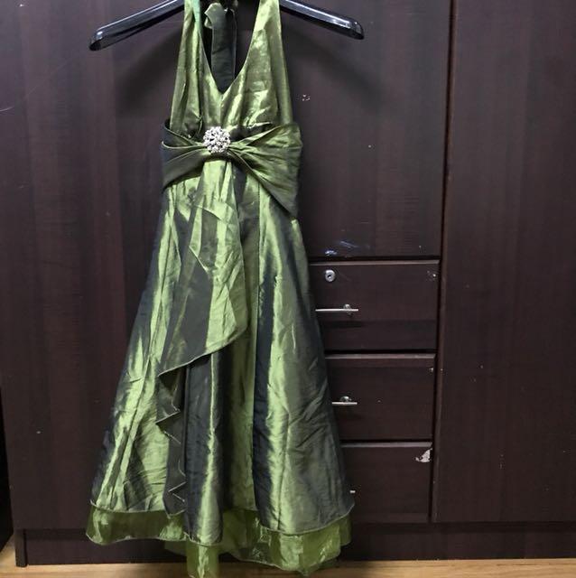 Eurago green cocktail dress
