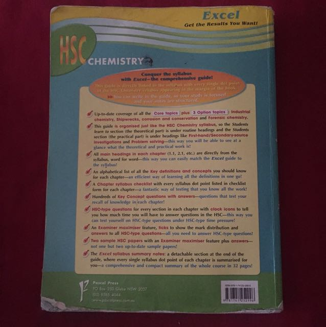 Excel HSC Chemistry Coursebook, Textbooks on Carousell