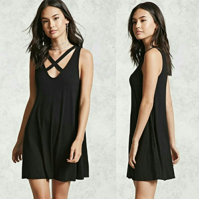 F21 Ribbed Swing Dress