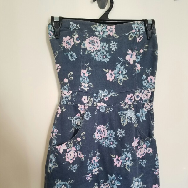 Floral Denim Mini Dress