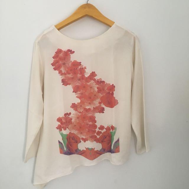 Floral dress creme