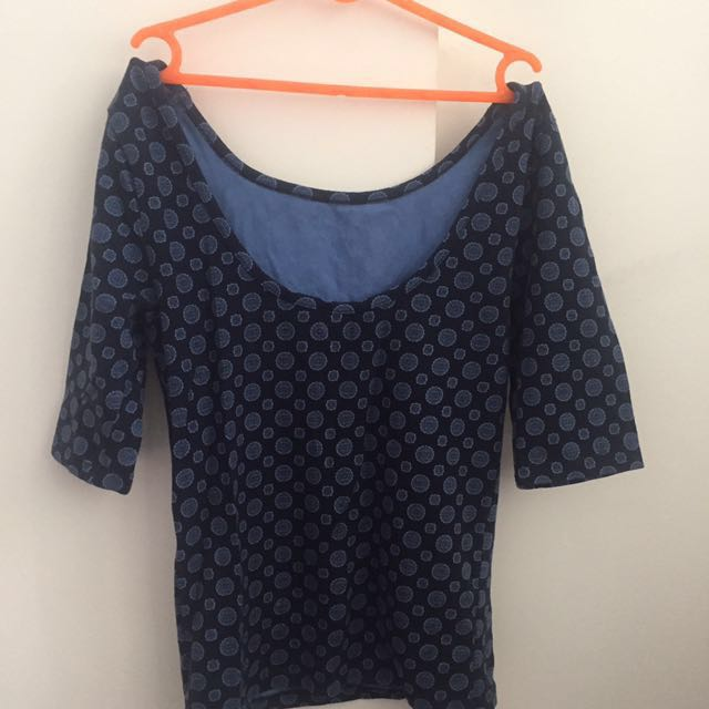 Forever 21 blue cute top!