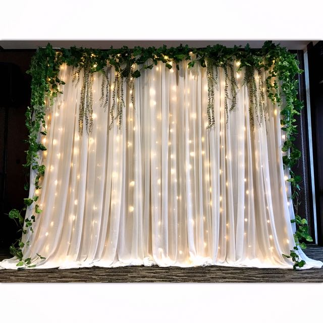 Garden Theme Fairy Light Backdrop Design Amp Craft Others