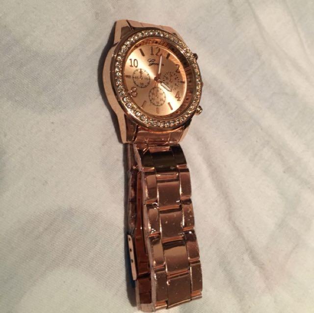 Geneva Rose Gold Watch
