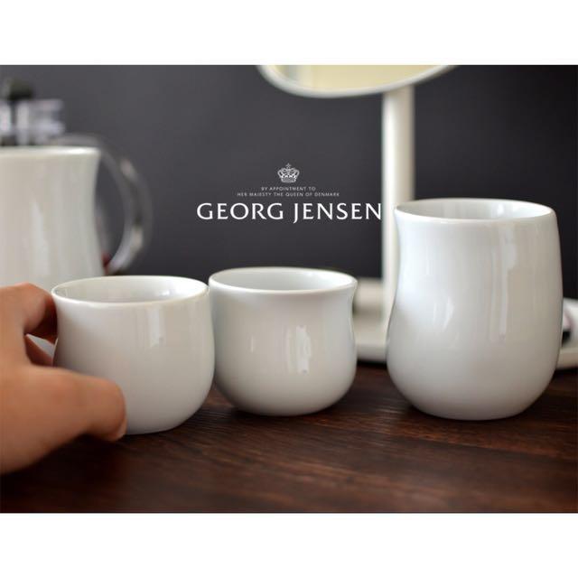 Georg Jense 喬治傑生 波浪白瓷保溫杯