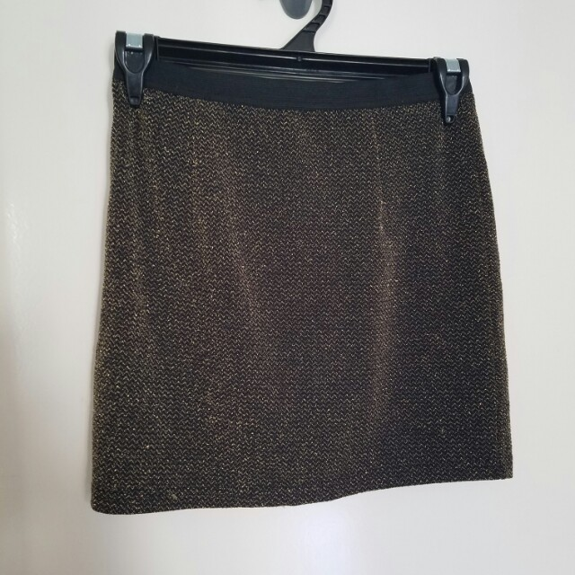 Gold Mini Skirt