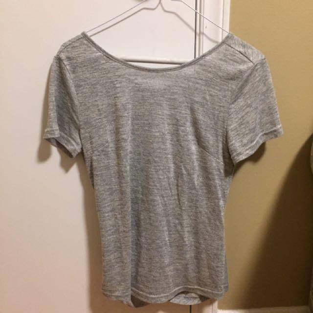 Grey Criss-Cross T-shirt