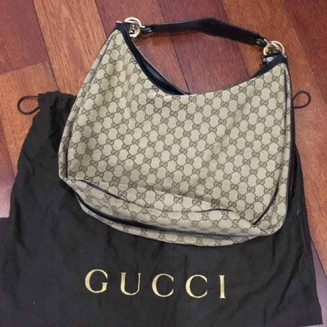 c932463218e8 Gucci GG Twins Large Hobo, Luxury, Bags & Wallets on Carousell