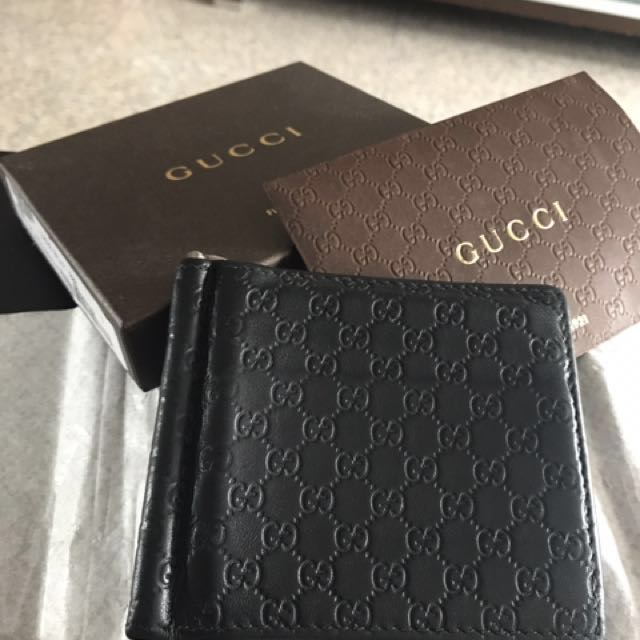 9a3aa98803bd Gucci money clip wallet, Men's Fashion, Bags & Wallets on Carousell