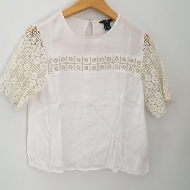 H & M white blouse