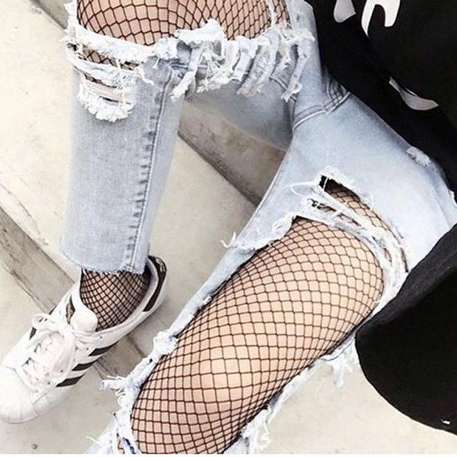 Highwaist fishnet stockings