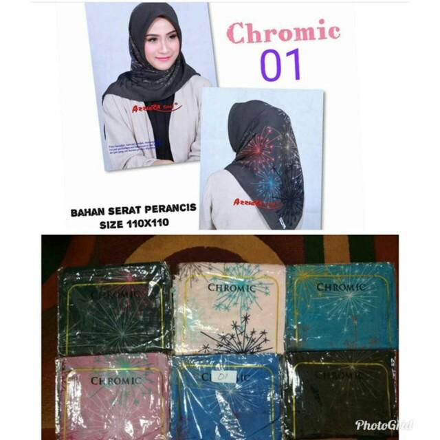 Hijab segiempat motif (pre-order)