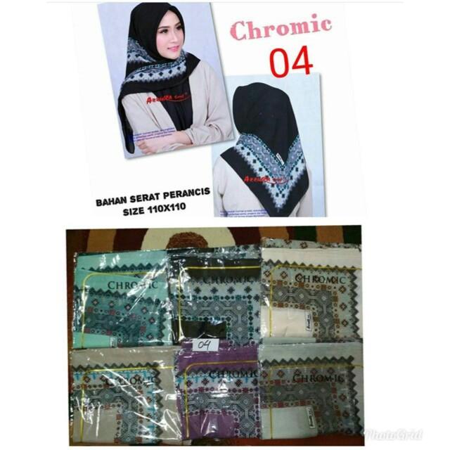 Hijab segiempat motif (preorder)