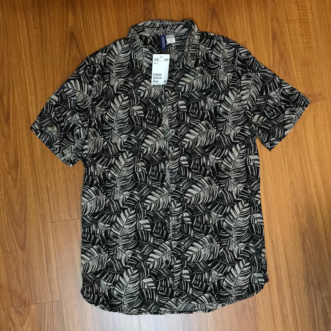 H&M 襯衫 葉子 復古 未拆標籤 全新