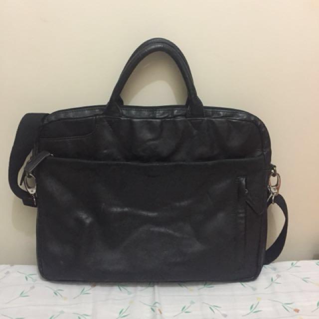 horse leather laptop bag