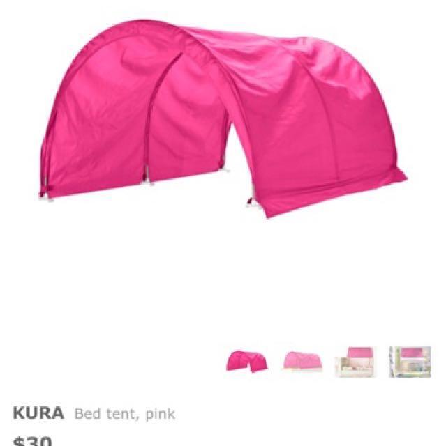 photo photo photo photo photo  sc 1 st  Carousell & IKEA Kura Toddler Bed Canopy/Tents (Blue u0026 Green)  Home ...