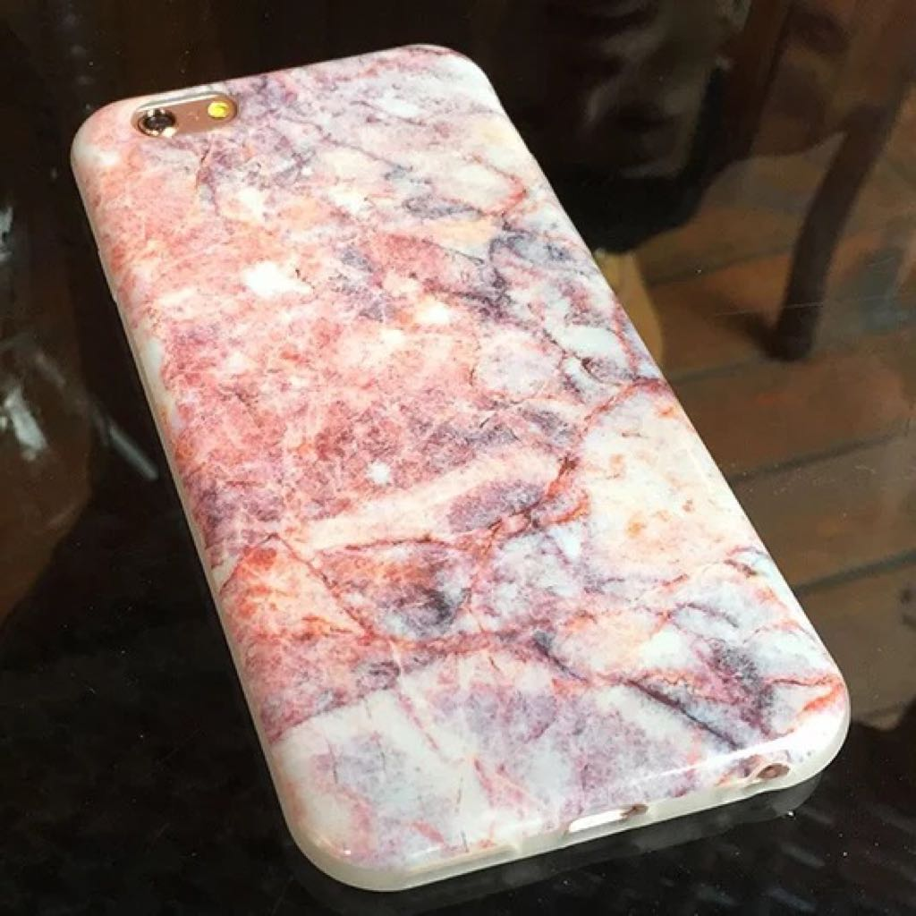 iPhone 6/6s plus 粉紅大理石手機殼