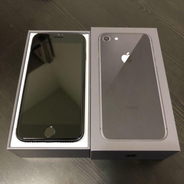 iPhone 8 太空灰 256G 九成九新 無傷