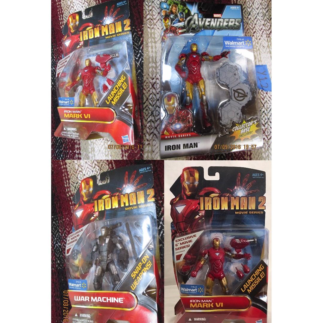 Iron Man movie figurines war machine special walmart mark VI V III
