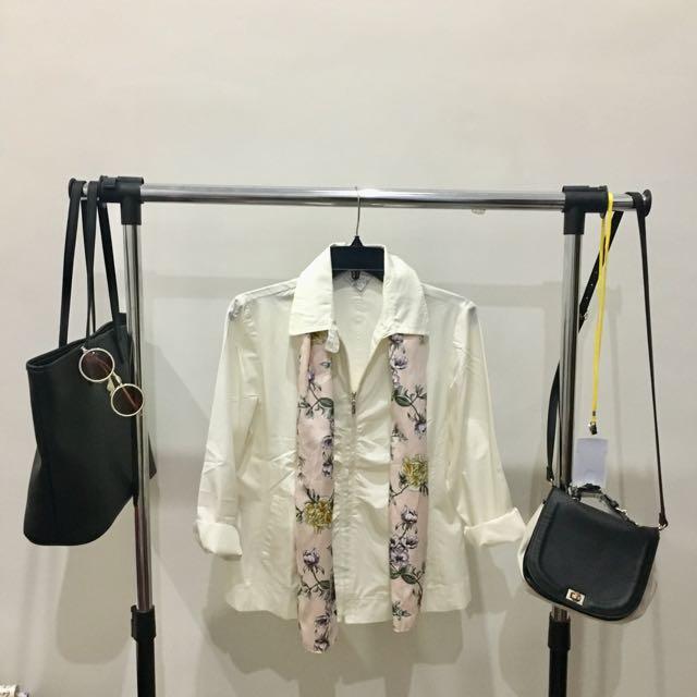 Jacket Putih Susu✨