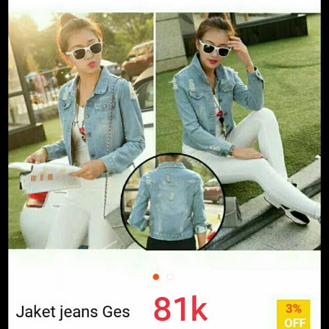 Jaket jeans guess