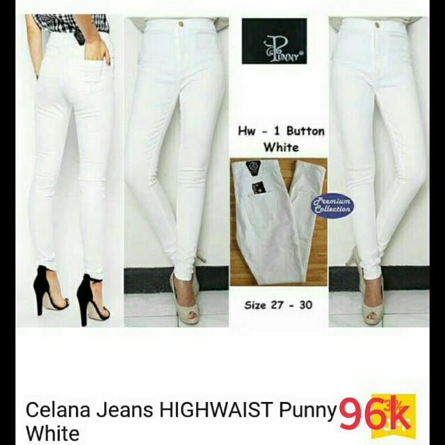 Jeans HW punny white