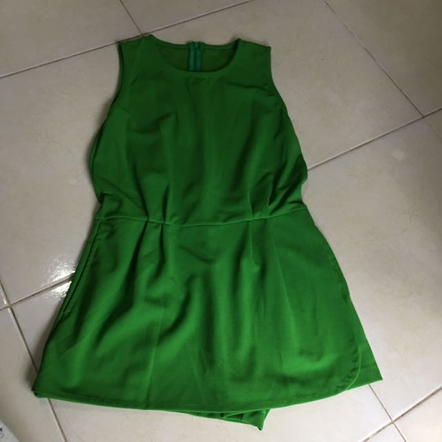 Jumpsuit Skort Green