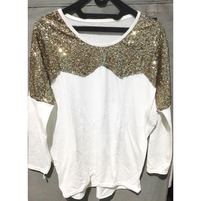 Kaos Putih Manik Gold