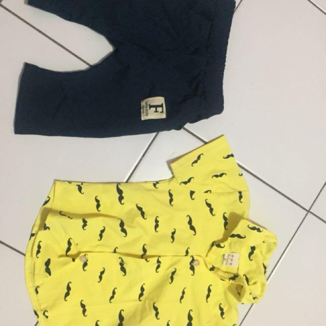 Kemeja-celana,untuk usia 12-18 bulan