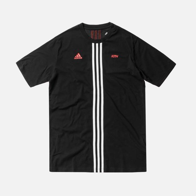 Kith X Adidas Cobras Stripe Tee Black, L