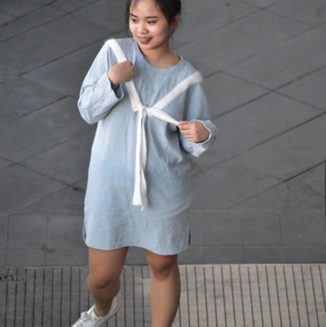 Korean Front Tie Dress