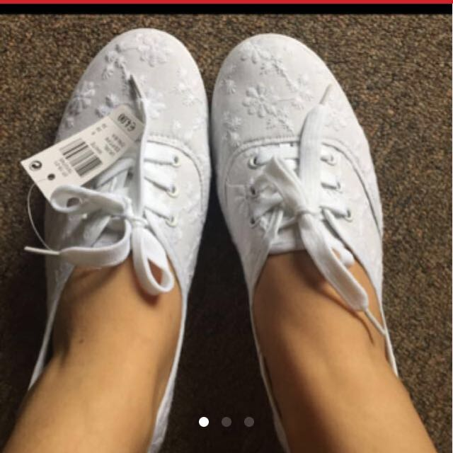 Lace White Sneaker Shoes