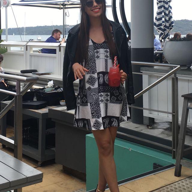 LEE paisley silk slip-on dress: 6