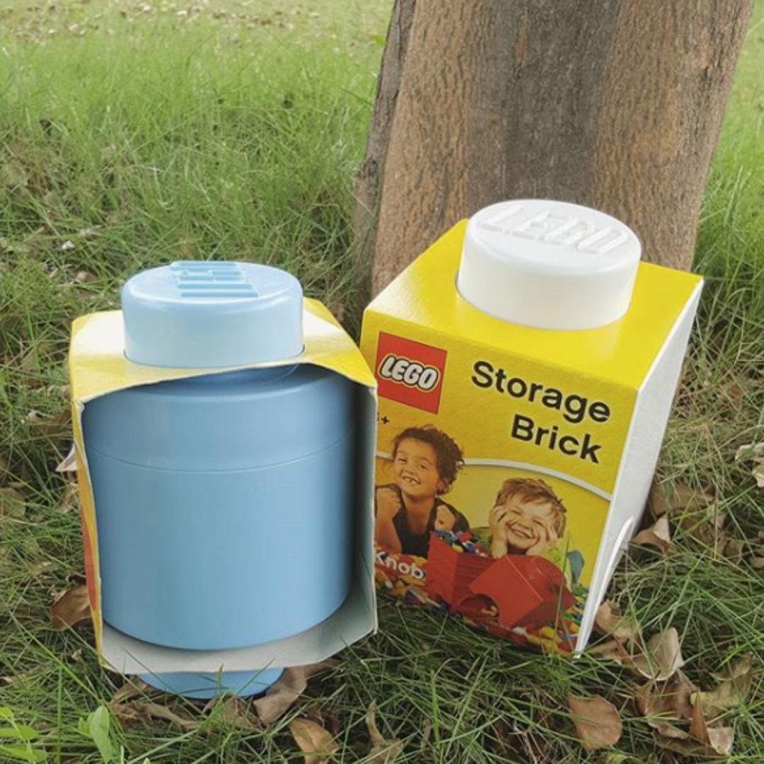 LEGO Storage Brick 1 knob White Cube (brand new).