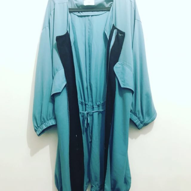 Light blue chiffon coat