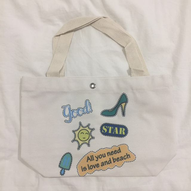 Love and Beach Small Totebag
