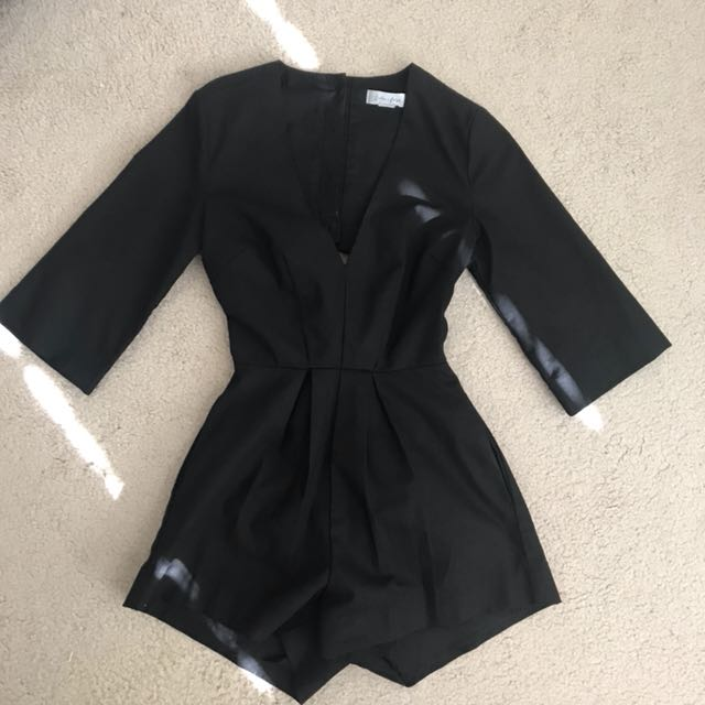 Lulu Rose Black Romper