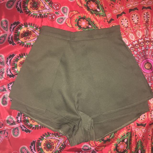 LUVALOT khaki lola shorts: 6