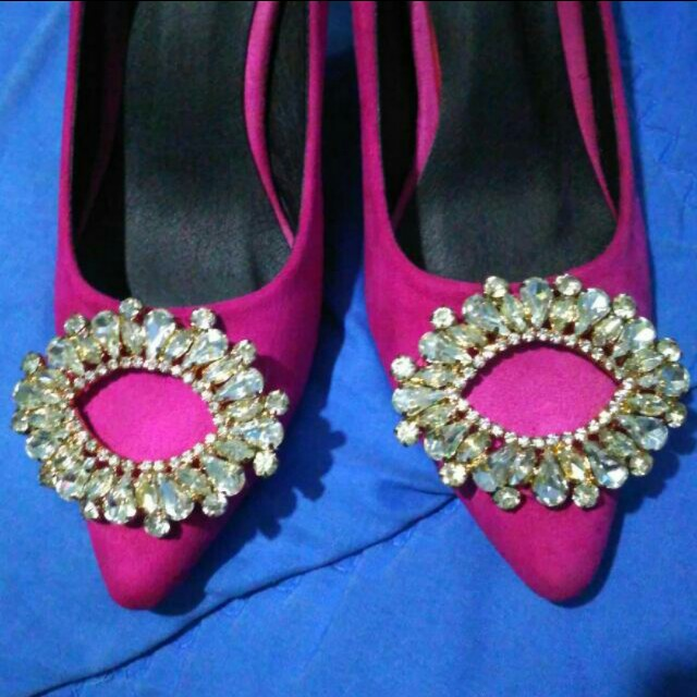 Manolo blahnik pink sparkle