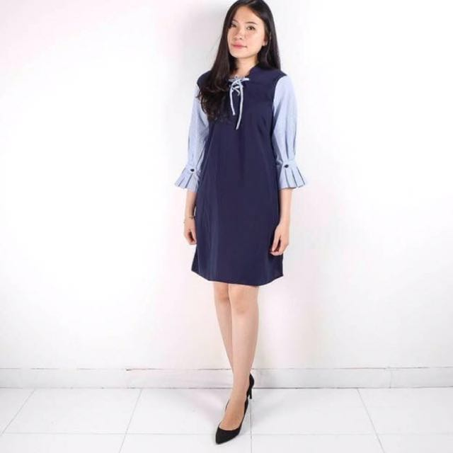 Marina dress navy