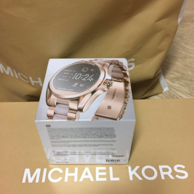 b3479722818b Michael Kors Watch   MK Watch  Smart watch   Rose Gold Bradshaw Acetate  Smart Watch