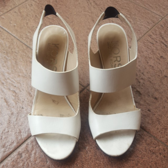 Michael Kors White High Heels